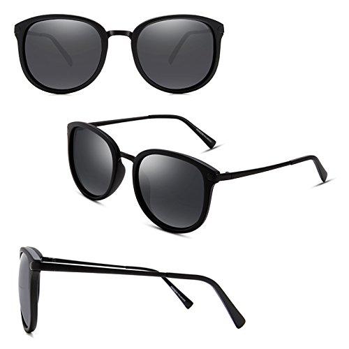 Noir New Retro Fashion de mat Essential Frame 2DAWANG Soleil Tide Femme Lunettes tZqvX