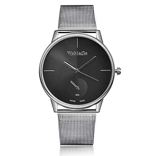 SJXIN Reloj Elegante 2017LC Mesa 1838 Mesa de Diamantes Reloj Digital de Cuarzo Perla + Pulsera