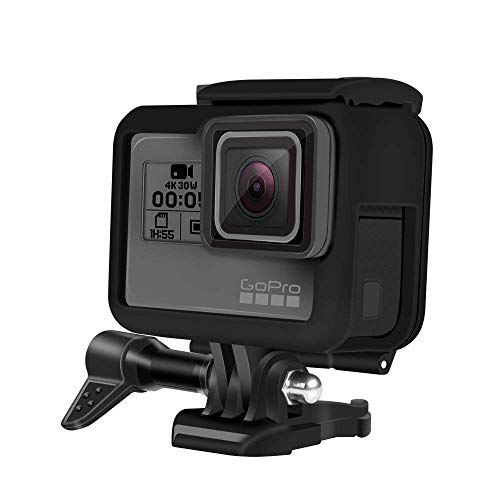 Impact Imagery - Gopro Hero 5 6 or 7 Skeleton Frame - Protective Low Profile Camera Housing - Quick Release Latch and Side Port Openings ()