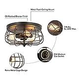 CO-Z 15 Inch Industrial 3-Light Vintage Metal Cage