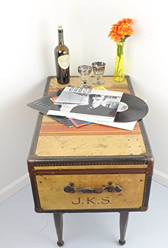Oshkosh striped chief trunk suitcase coffee table buy for Coffee tables uae