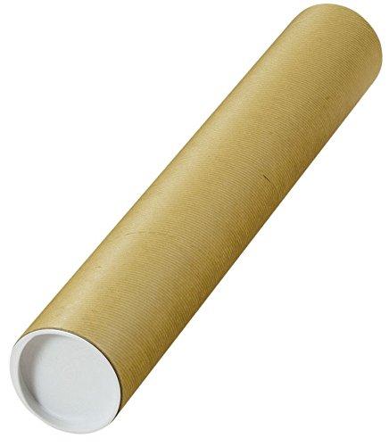 Tubo di spedizione con tappi di chiusura premontati, Ø 500 x 80 mm, marrone, 10 pezzi Ø 500 x 80 mm Elepa - rössler kuvert