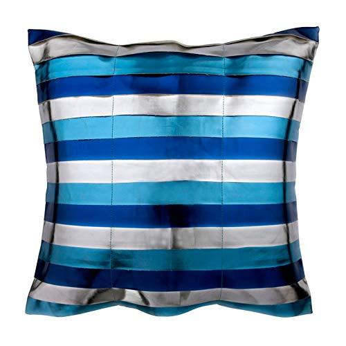 The HomeCentric Funda de cojín Decorativa a Rayas Azules ...