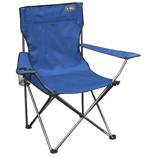 Merveilleux Quik Chair Folding Quad Mesh Camp Chair   Blue