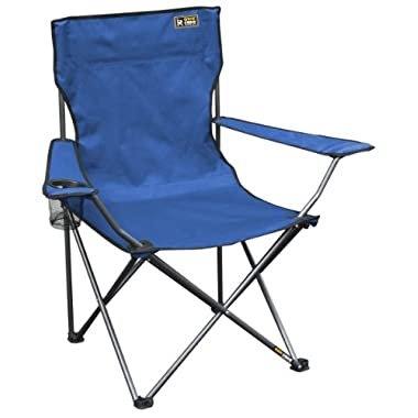 Quik Chair Folding Quad Mesh Camp Chair - Blue