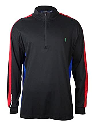 Polo Ralph Lauren Big & Tall Color-Blocked Pima Pullover, Polo Black, Tall 2L