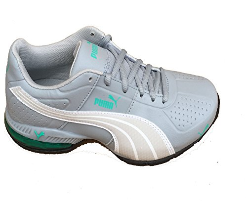 Puma Women's Cell Surin Quarry Gray White Pool Green Atheletic Sneakers (8)