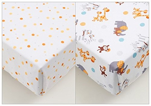 BreathableBaby 2 By 2 Super Dry Cot Bed Sheet (Animal) 38523