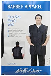 A Size Above Plus Size Men\'s Stylist Vest, Mesh Vent in Back, Black, 4X