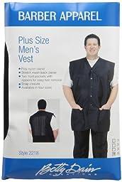 A Size Above Plus Size Men\'s Stylist Vest, Mesh Vent in Back, Black, 4X