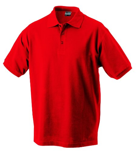 James & Nicholson Herren Polo Classic M,signal-red