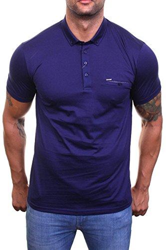 Guide London Herren Poloshirt blau navy Large