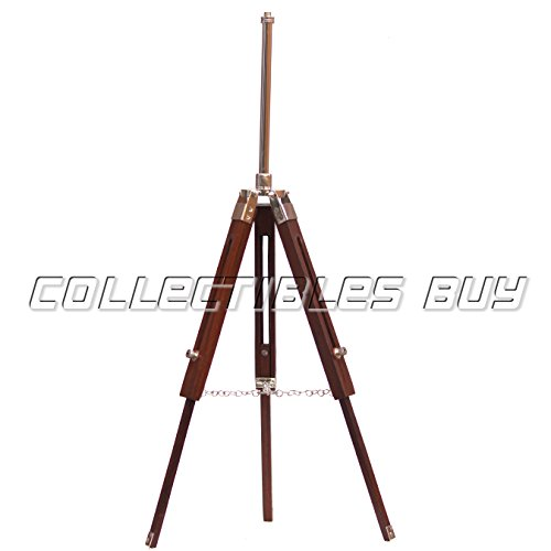 Collect Duque buy Vintage Wooden Tripod Bulb Shade Fixture Stand Table Lamp Brown by Collect Duque buy