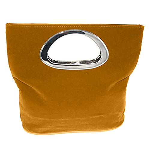 Top-Handle Handbags Clutch,SIN+MON Women's Fashion Simple Wool Totes Bags Square Collapsible Lightweight Evening Bag