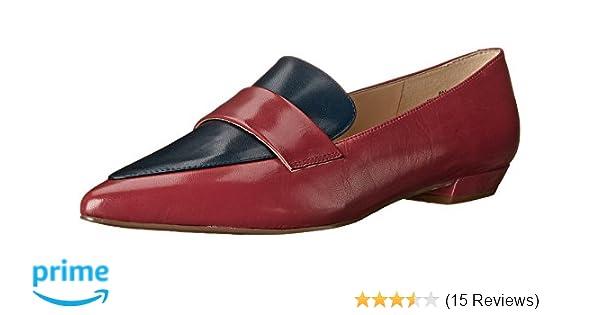 Amazon.com   Nine West Womens Truethat Leather, Dark Pink/Navy 6.5 M US   Shoes