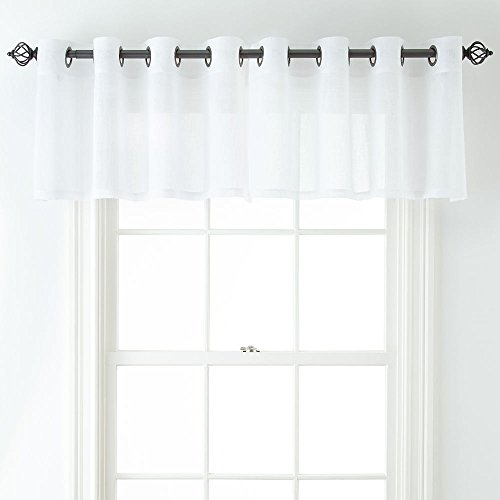 JCPenney Home Bayview Grommet-Top Sheer Tailored Valance, 50