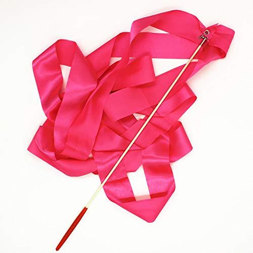 Zerama 4 Meter Long Gymnastics Ribbon Dance Streamer Twirling Ribbon Dance Performace Prop Tools
