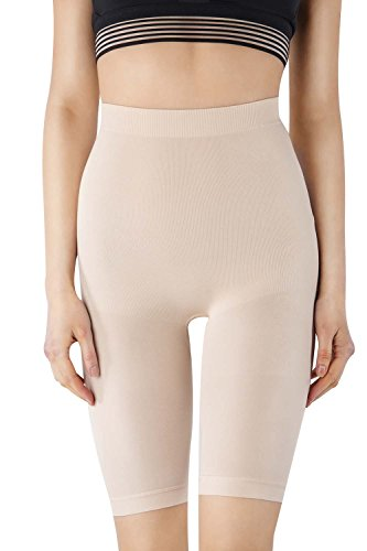 MD Women's Light Control Shapewear Mid-Thigh High Waist Tummy Shaper Slimmer Plus Size NudeXXL