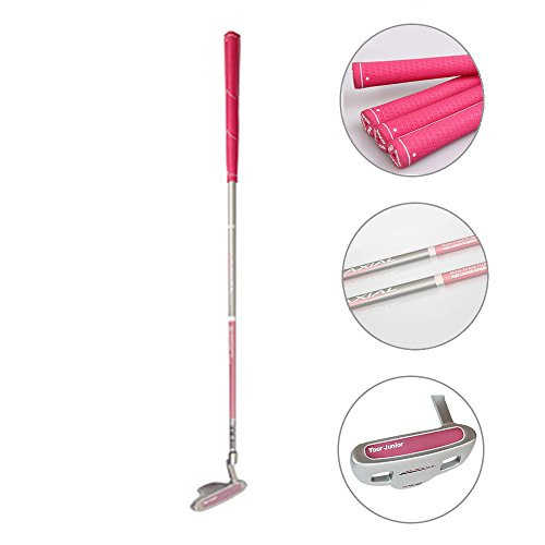 Acstar Junior Golf Putter Stainless Steel Kids Putter Right Handed for Kids Ages 9-12 (Pink, 29