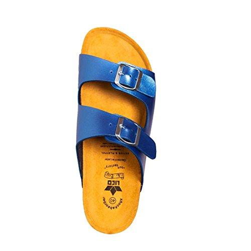 Liche Shiny Bioline Blau Mules Donna blau Blue SqrESO