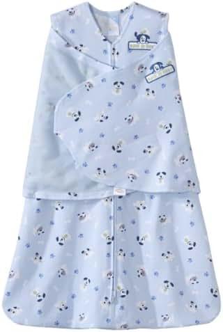 HALO 100% Cotton SleepSack Swaddle, Blue Pup Pals, Newborn