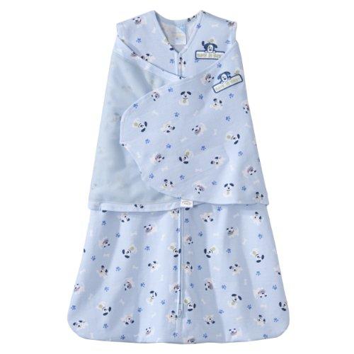 HALO 100% Cotton SleepSack Swaddle, Blue Pup Pals, Small