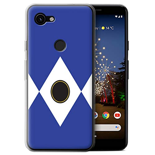 eSwish Gel TPU Phone Case/Cover for Google Pixel 3a XL/Blue Design/TV Comic Rangers Collection