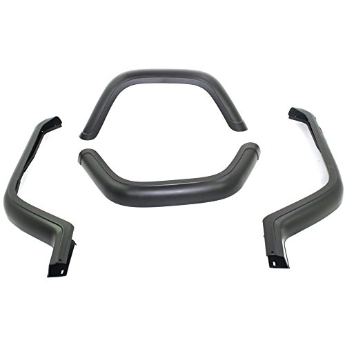 Evan-Fischer EVA21672027158 Fender Flares for Jeep Wrangler 87-95 Fender Flare Fender Flare Kits OE Style Flares Includes All 4 Flares and Hardware