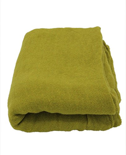 Soft Long Scarfs For Women Lightweight Warm Shawl Wrap Fall Blanket Solid Color (Grass Green) by JAWEAVER (Image #1)