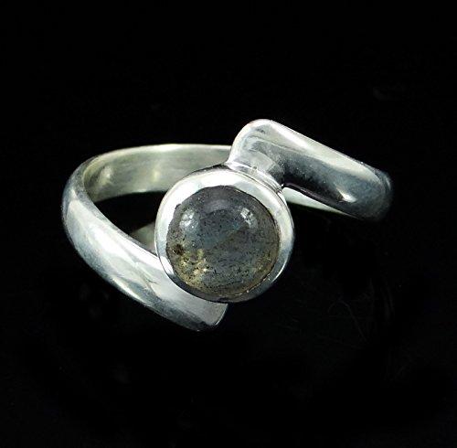 Banithani 925 labradorite bague en argent en pierre de mode cadeau de bijoux de bande pour les femmes