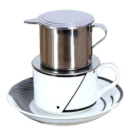 fublousRR5 Coffee Filter Maker, 50/100ml Vietnam Style Strainer Coffee Drip Filter Maker Pot Infuse Cup, Stainless Steel Filter 50ml