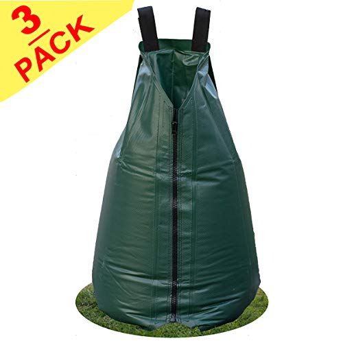 3 Pack-Premium Junior 15 Gallon Tree Watering Bag-Automatic Drip Irrigation|Deep Root&Slow Release&|Water&Labor Saving, for Young&Newly Planted Trees&Evergreens&Shrubs ()