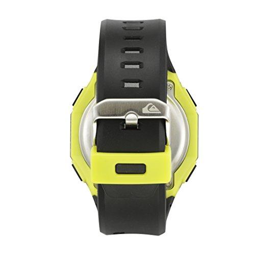 Amazon.com: Quiksilver Mens QS/1019BKGN THE BREAKER Digital Chronograph Black Resin Strap Watch: Watches