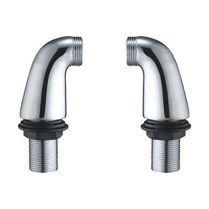 Deck Mounted Chrome Bath Filler Shower Mixer Tap Legs Adapter Pillars Extension