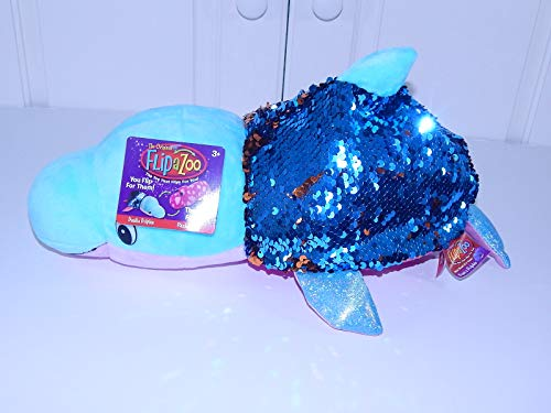Flip a Zoo Sequin (Dolphin - Seal) FlipaZoo The 16 Pillow with 2 Sides of Fun for Everyone - Each Huggable FlipaZoo Character is Two Wonderful Collectibles in One