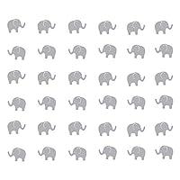 JUEKUI Set of 48 pcs Cute Elephant Decal Woodland Elephant Wall Decor Stickers for Kids Bedroom Nursery Wall Decor Removable Vinyl WS15