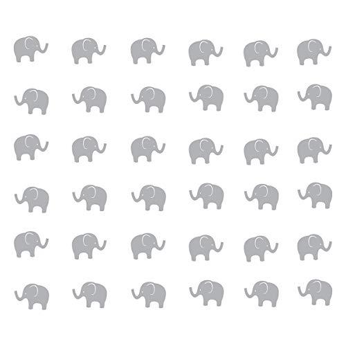 JUEKUI Set of 48pcs Baby Elephant Wall Decals Woodland Elephant Wall Decor Stickers for Kids Bedroom Nursery Decor Removable Vinyl WS15 - Set Decal Elephant