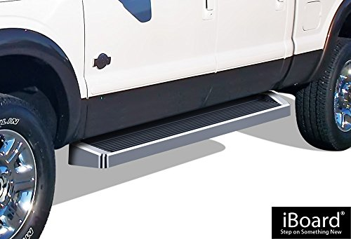 APS iBoard Running Boards Style Custom Fit 1999-2016 Ford F250 / F350 Super Duty Crew Cab Pickup 4-Door & 1998-2005 Excursion (Nerf Bars | Side Steps | Side Bars)