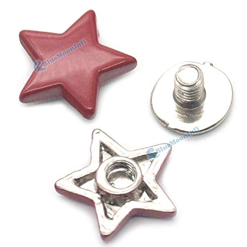 Leather Rivets Set 5/15/50/120 Sets Alloy Star Shape Rivet Stud Button Screw Bag Clothes Shoe Punk DIY Fittings Leather Craft by X-CRAFT (Image #6)