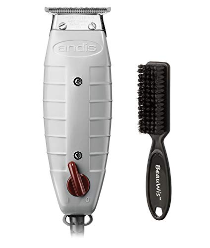 Andis Professional T-Outliner Beard/Hair Trimmer with T-Blade, Gray, Model GTO (04710) with a BeauWis Blade Brush (Clippers Edgers)
