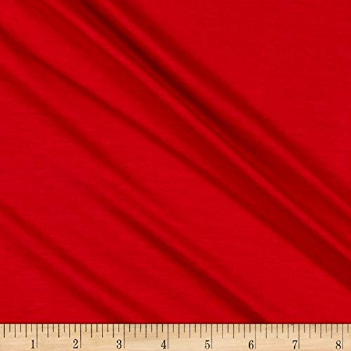 Lavitex Heavy Rayon Jersey Knit Solid Tomato Fabric, Red, Fabric By The Yard