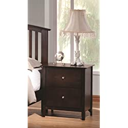 Coaster Home Furnishings 202082 Casual Contemporary Nightstand, Cappuccino