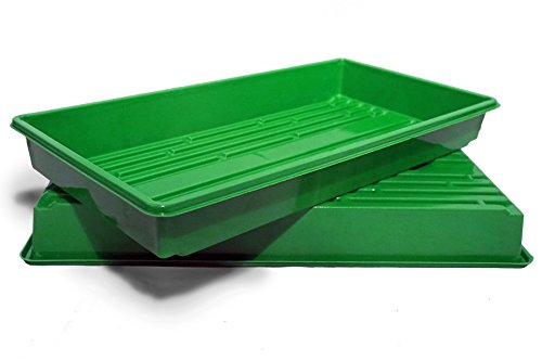 Made In USA, Growing Tray for garden seeds, Microgreens, Wheatgrass (No Drain Holes) (20, Green) by Thunder Acres