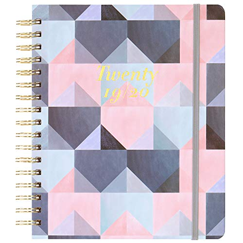 "2019-2020 Academic Planner - Weekly & Monthly Planner with Tabs + Luxury Vegan Leather and Thick Paper, Back Pocket with 15 Notes Pages + Gift Box - 8"" x 10"""