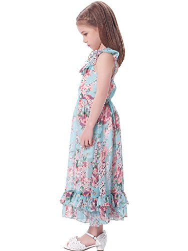 c8c4d22ff7 Amazon.com: Bonny Billy Girl's Spaghetti Straps Casual Bohemian Beach Maxi  Long Dress: Clothing
