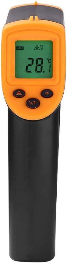 Yunt-11 M/ètre Infrarouge de Digital Pistolet Infrarouge de temp/érature de thermom/ètre de Laser de Digital sans Contact pour Le Four de Piscine de r/éfrig/érateur de Viande