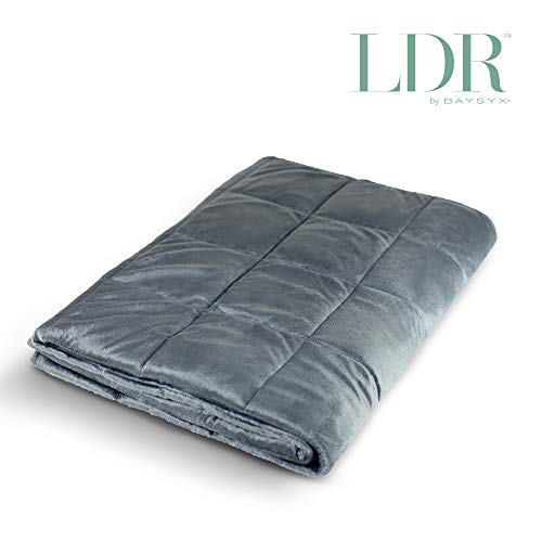 Cheap LDR by Baysyx - 16 Pound Weighted Twin Size Blanket | Even Weight Distribution & Plush Snuggly Soft Exterior to Help with Anxiety Superior Sleep & Calming Comfort for Adults (Castlerock) Black Friday & Cyber Monday 2019
