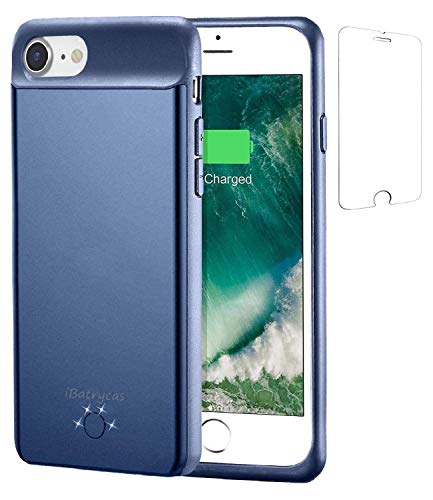 iBatrycas Battery Case for iPhone 6S / 7, 3000mAh Slim Charger Case Portable Rechargeable Case for iPhone 8/6 (Blue 4.7'')