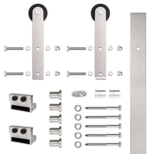 Flat Rail Stick Strap Rolling Door Hardware Kit, 304 Stainless Steel for sale