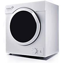 Ivation 3.21 cu.ft Small Compact Portable Ventless Electric Dryer for Clothes Laundry - 1,500W Drying Power for Apartments Condos Townhomes Dorm Rooms & RVs - 7 Settings for All Load Types - White
